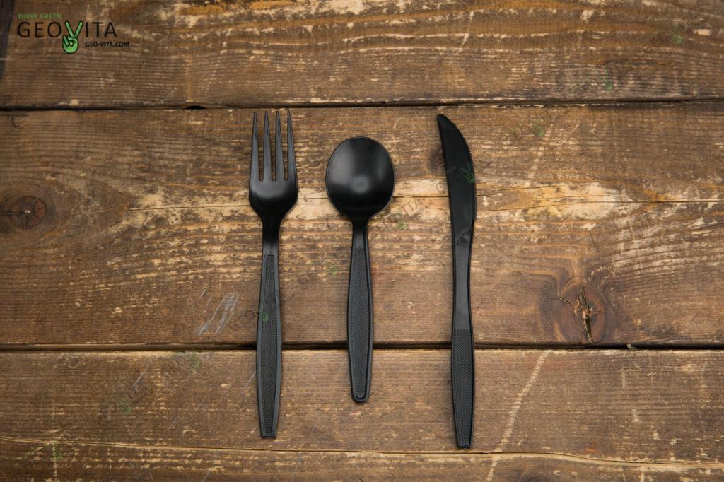 Новые линейки приборов из кукурузного крахмала. © GEOVITA - Одноразовая посуда от производителя!