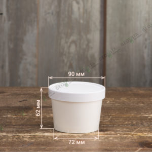 Контейнер для супа одноразовый 240 мл. © GEOVITA - Одноразовая посуда от производителя!