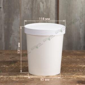 Супница с крышкой 950 мл. © GEOVITA - Одноразовая посуда от производителя!
