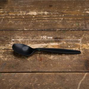 Одноразовая BIO ложка черная © GEOVITA - Одноразовая посуда от производителя!