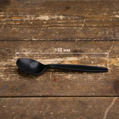 Одноразовая BIO ложка черная