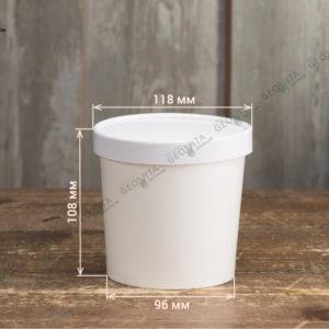 Контейнер для супа из картона © GEOVITA - Одноразовая посуда от производителя!