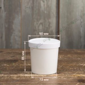 Супница бумажная © GEOVITA - Одноразовая посуда от производителя!