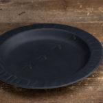 Одноразовая тарелка 180 мм. черная