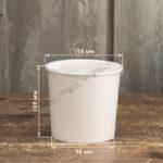 Супница бумажная с пластиковой крышкой
