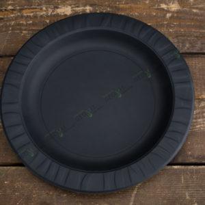 Тарелка 230 мм. черная © GEOVITA - Одноразовая посуда от производителя!