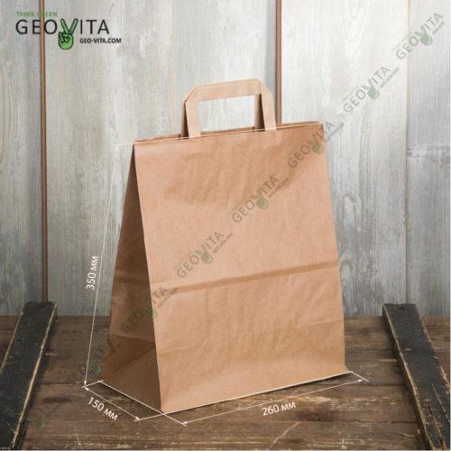 Бумажный пакет с пл. ручками 260*150*350 мм