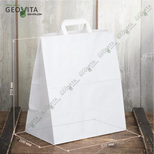 Бумажный пакет с пл. ручками 320*200*370