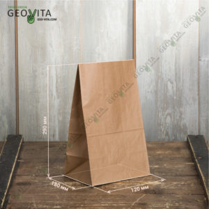 Бумажный пакет 180*120*290 © GEOVITA - Одноразовая посуда от производителя!