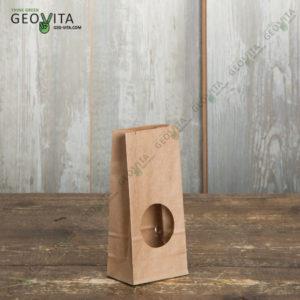 Бумажный пакет с окном © GEOVITA - Одноразовая посуда от производителя!