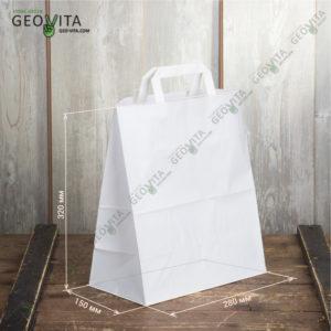 Бумажный крафт пакет с пл. ручками 280*150*320 мм. © GEOVITA - Одноразовая посуда от производителя!