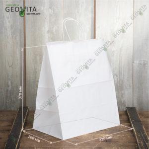 Пакет бумажный 320*200*370 © GEOVITA - Одноразовая посуда от производителя!