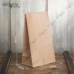 Бумажный пакет © GEOVITA - Одноразовая посуда от производителя!