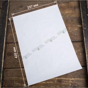 Плейсмат бумажный белый А3 © GEOVITA - Одноразовая посуда от производителя!
