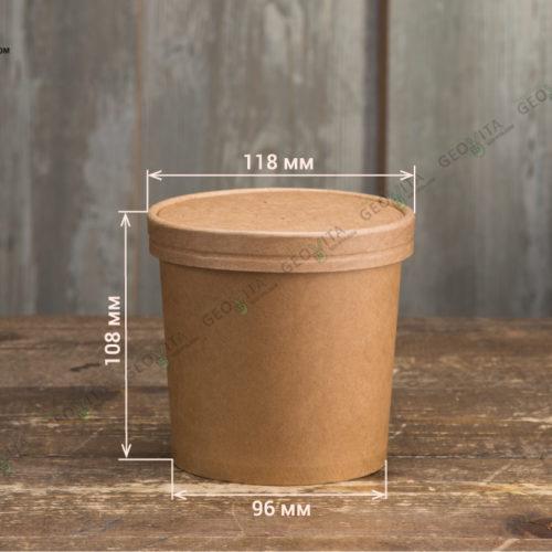 Бумажный контейнер для супа