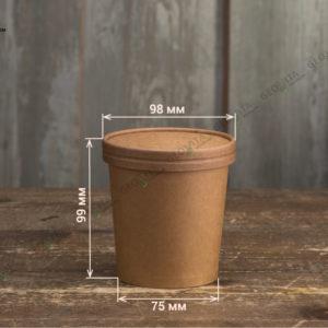 Бумажный контейнер для супа © GEOVITA - Одноразовая посуда от производителя!
