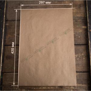 Плейсмат бумажный крафт А3 © GEOVITA - Одноразовая посуда от производителя!