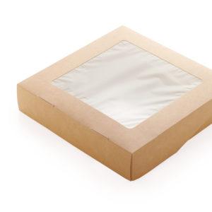 Одноразовый ланч-бокс 1500 мл. самосборный © GEOVITA - Одноразовая посуда от производителя!