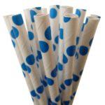 Бумажная трубочка «в голубой горошек»