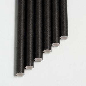 Бумажная трубочка черная © GEOVITA - Одноразовая посуда от производителя!