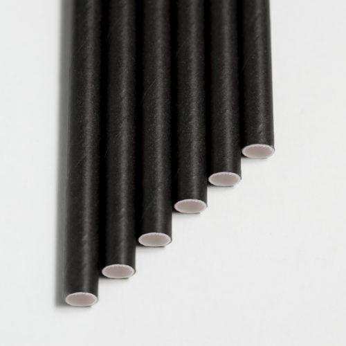 Бумажная трубочка черная