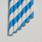 Бумажная трубочка «синяя полоса»