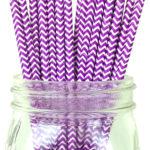 Бумажная трубочка «фиолетовый шеврон»