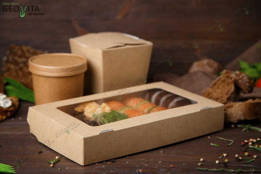 Доставка и упаковка еды в России. © GEOVITA - Одноразовая посуда от производителя!
