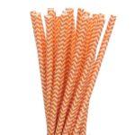 Бумажная трубочка «оранжевый шеврон»