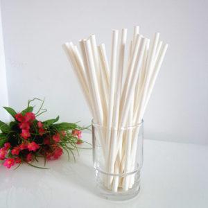 Бумажная трубочка белая © GEOVITA - Одноразовая посуда от производителя!