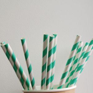 Бумажная трубочка «Мята» © GEOVITA - Одноразовая посуда от производителя!