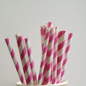 Бумажная трубочка «Розовый фламинго» © GEOVITA - Одноразовая посуда от производителя!