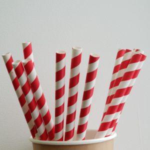Большая бумажная трубочка «Леденец» © GEOVITA - Одноразовая посуда от производителя!