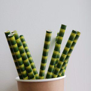 Трубочка бумажная «бамбук» © GEOVITA - Одноразовая посуда от производителя!