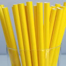 Бумажная трубочка «желтая» © GEOVITA - Одноразовая посуда от производителя!