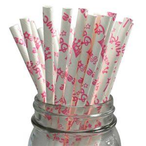 Бумажная трубочка с индивидуальным дизайном 1 цвет © GEOVITA - Одноразовая посуда от производителя!