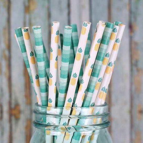 Бумажная трубочка с индивидуальным дизайном 2 цвета