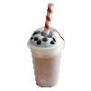 Большая бумажная трубочка для молочного коктейля