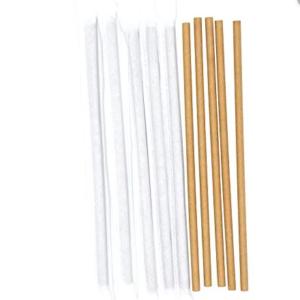 Крафт соломинка из бумаги в индивидуальной упаковке © GEOVITA - Одноразовая посуда от производителя!