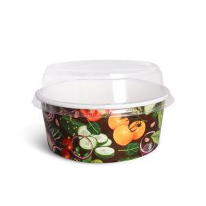 Крышка купольная для контейнера © GEOVITA - Одноразовая посуда от производителя!