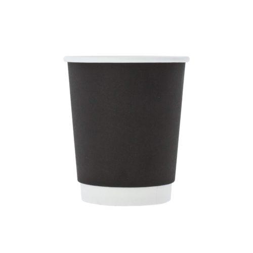 Двухслойный черный стаканчик