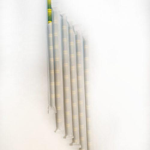 Бумажная трубочка бамбук в индивидуальной упаковке