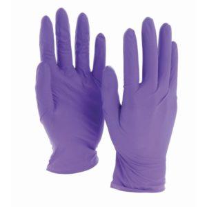 Одноразовые нитриловые перчатки фиолетовые © GEOVITA - Одноразовая посуда от производителя!