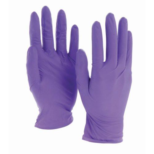 Одноразовые нитриловые перчатки фиолетовые
